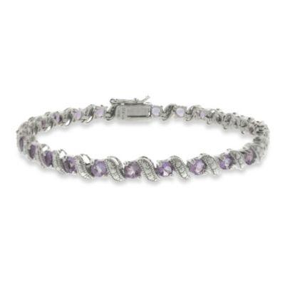 Sterling Silver San Marco 2.9 cttw Amethyst Bracelet