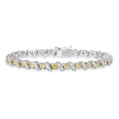 Sterling Silver San Marco 2.9 cttw Citrine Bracelet