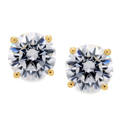 Yellow Gold Zirconia Studs