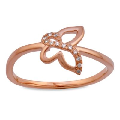 Violet and Sienna Butterfly Ring