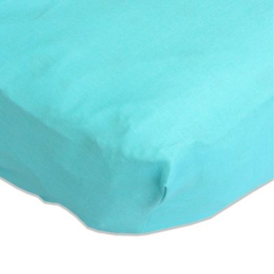 Caden Lane® Bright Baby Green Fitted Crib Sheet in Turquoise
