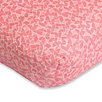 Caden Lane® Ikat Crib Sheet in Coral