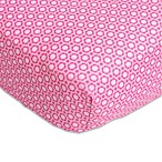 Caden Lane® Preppy Fitted Crib Sheet in Pink Flower