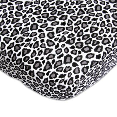 Caden Lane® Girly Purple Leopard Fitted Crib Sheet