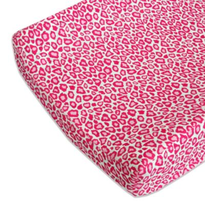 Caden Lane® Girly Pink Leopard Changing Pad Cover