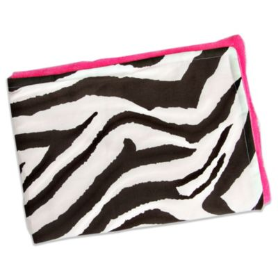 Caden Lane® Limited Edition Funky Rose Blanket in Zebra/Hot Pink