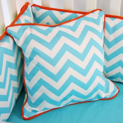 Caden Lane® Bright Baby Green Square Pillow in Turquoise