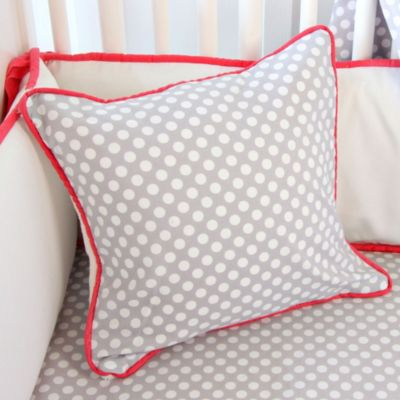 Caden Lane® Coral and Grey Square Pillow