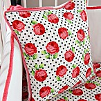 Caden Lane® Girly Coral Rose Square Toss Pillow
