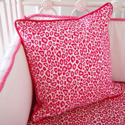 Caden Lane® Girly Pink Leopard Square Throw Pillow