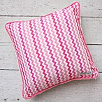 Caden Lane® Girly Zig Zag Square Pillow