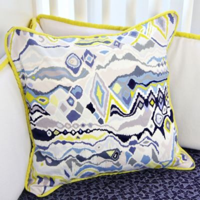 Caden Lane® Ikat Citrus Square Toss Pillow
