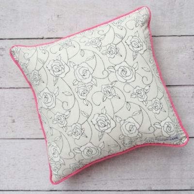 Caden Lane® Lacey Rose Square Toss Pillow