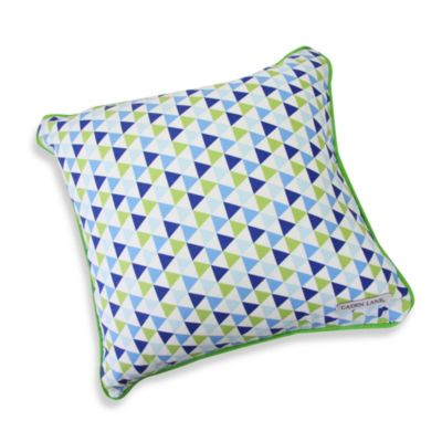 Caden Lane® Preppy Square Toss Pillow in Navy