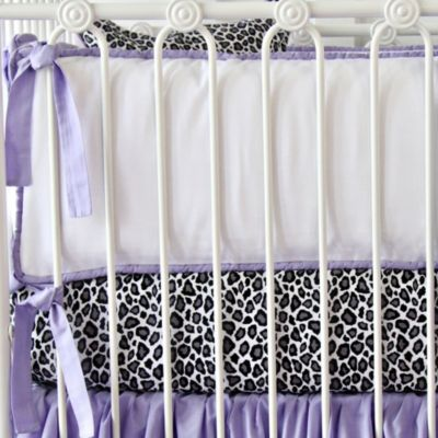 Caden Lane® Girly Purple Leopard Crib Bumper