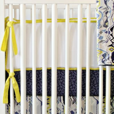 Caden Lane® Ikat Citrus 4-Piece Crib Bumper