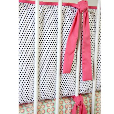 Caden Lane® Lacey Rose 4-Piece Crib Bumper