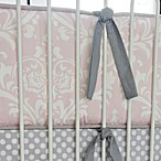 Caden Lane® Sweet Lace Damask Crib Bumper