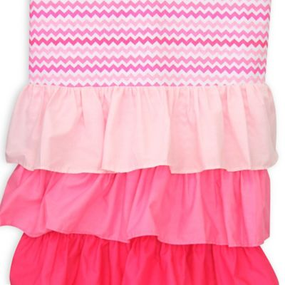 Caden Lane® Girly Zig Zag Ruffle Window Curtains