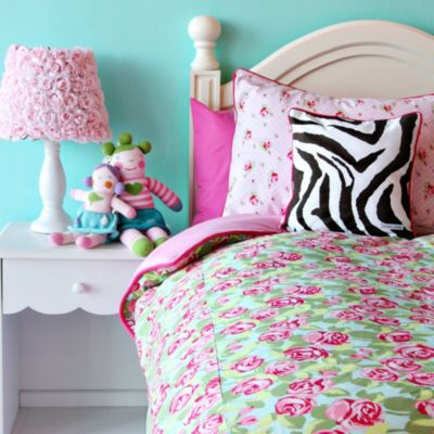 Caden Lane® Limited Edition Funky Rose Twin Duvet Cover