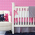 Caden Lane® Preppy Panel Skirt Crib Bedding in Pink