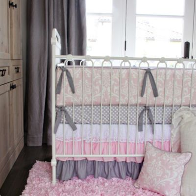 Caden Lane® Sweet Lace Damask 2-Piece Crib Bedding Set