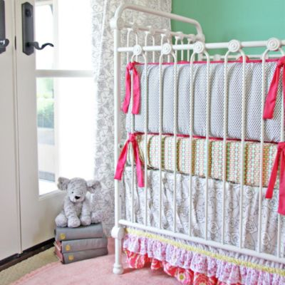 Caden Lane® Lacey Rose 2-Piece Crib Set