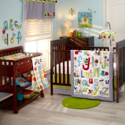 NoJo® ABC with Me by Jill McDonald Bedding Collection > NoJo® ABC with Me by Jill McDonald 4-Piece Crib Bedding Set