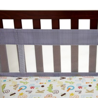 NoJo® ABC with Me by Jill McDonald 4-Piece Secure-Me Crib Liner