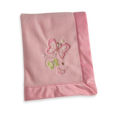 NoJo® Butterfly Love Appliqued Coral Fleece Blanket