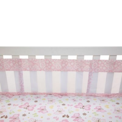 NoJo® Butterfly Love 4-Piece Secure-Me Crib Liner