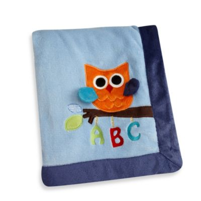 NoJo® ABC with Me by Jill McDonald Appliqued Coral Fleece Blanket