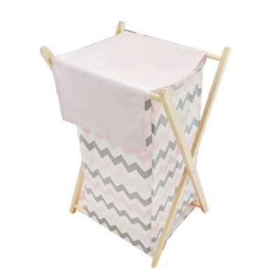 My Baby Sam Chevron Baby Hamper in Pink/Grey