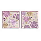 The Peanut Shell® Dahlia Canvas Wall Art (Set of 2)