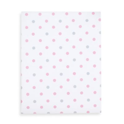 Just Born® Hattie & Ellie Crib Sheet in Pink/Grey Dots
