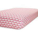 Just Born® Safe Sleep Fitted Crib Sheet in Pink/White Butterfly