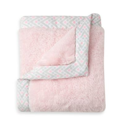 Just Born® Mix & Match Safe Sleep Cuddle Plush Blanket in Pink