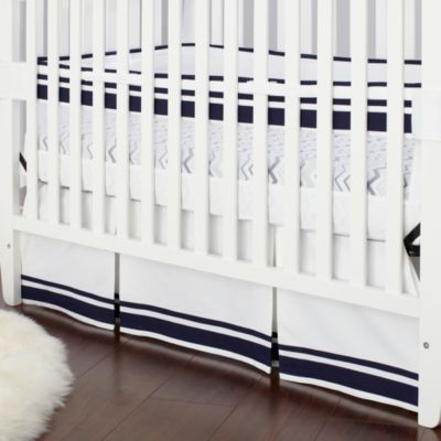 Just Born® Mix & Match Well Sleep Crib Skirt in Navy