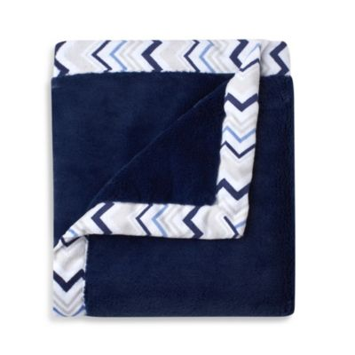 Just Born® Mix & Match Safe Sleep Cuddle Plush Blanket in Navy