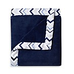 Just Born® Safe Sleep Cuddle Plush Blanket in Navy