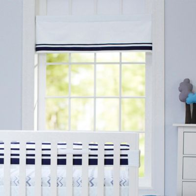 Just Born® Mix & Match Safe Sleep Window Valance in Navy