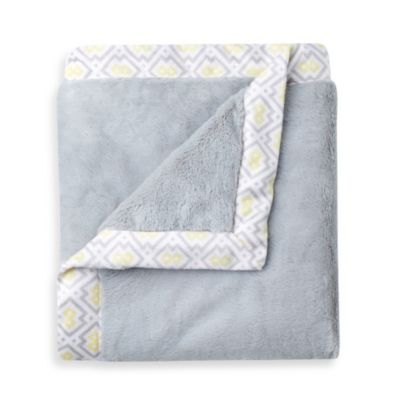 Just Born® Mix & Match Well Sleep Cuddle Plush Blanket in Grey