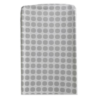 Living Textiles Baby Mix & Match Mod Dot Velboa Changing Pad Cover in Grey