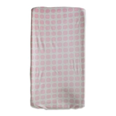 Living Textiles Baby Mix & Match Mod Dot Velboa Changing Pad Cover in Pink