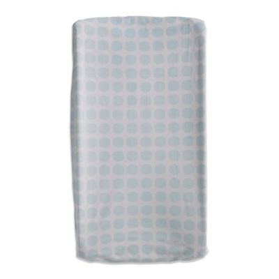 Living Textiles Baby Mix & Match Mod Dot Velboa Changing Pad Cover in Blue