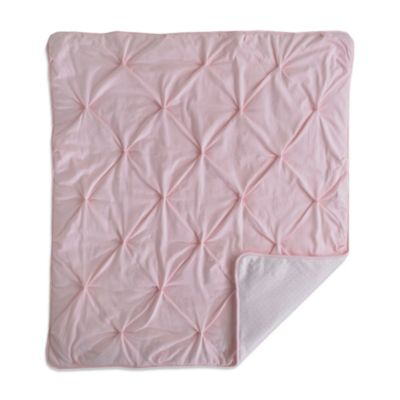 Living Textiles Baby Mix & Match Pintucked Jersey Comforter in Pink/Koko Rose Print