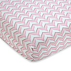 Wendy Bellissimo™ Pink Chevron Crib Sheet