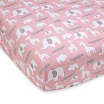Wendy Bellissimo™ Pink Safari Crib Sheet