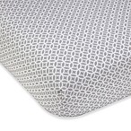 Wendy Bellissimo Unisex Fitted Crib Sheet in Grey/White