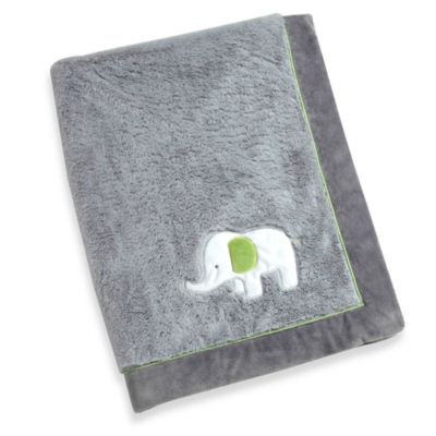 Baby Blankets > Wendy Bellissimo™ Mix & Match Elephant Applique Plush Blanket in Grey